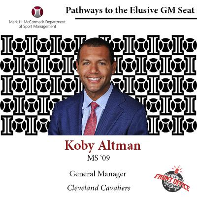 Koby Altman, GM of Cleveland Cavaliers, UMASS Elusive GM Seat Series