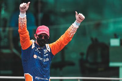 The Winners Circle with GMR Grand Prix of Indianapolis Winner Scott Dixon