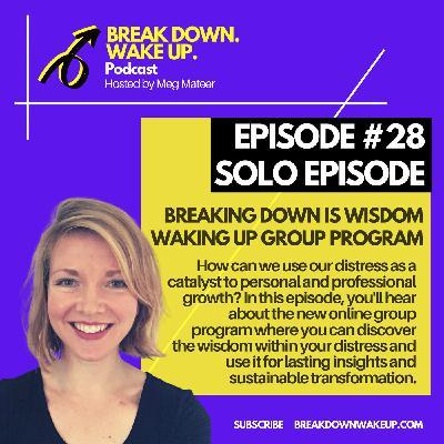 028 - Breaking down is wisdom waking up group program - Solo Episode!
