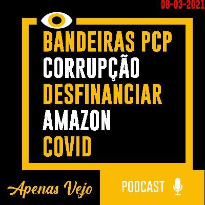 Apenas Vejo-Bandeiras PCP, Corrupcao, Desfinanciar a Policia Amazon e COVID