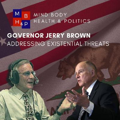 Governor Jerry Brown addresses existential threats in an era of political mistrust