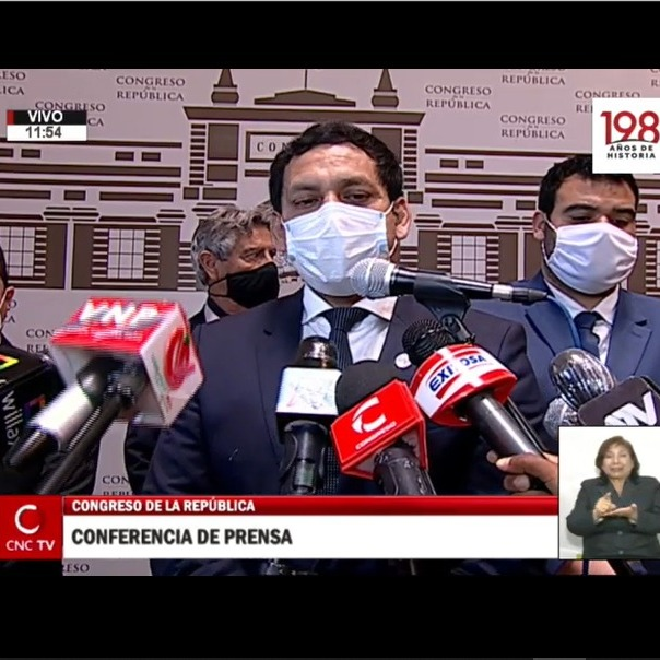 11-15-2020 - conferencia de prensa - junta de portavoces - Congreso Perú