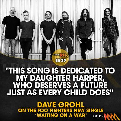 Dave Grohl talks about the new Foo Fighters single 'Waiting On A War'
