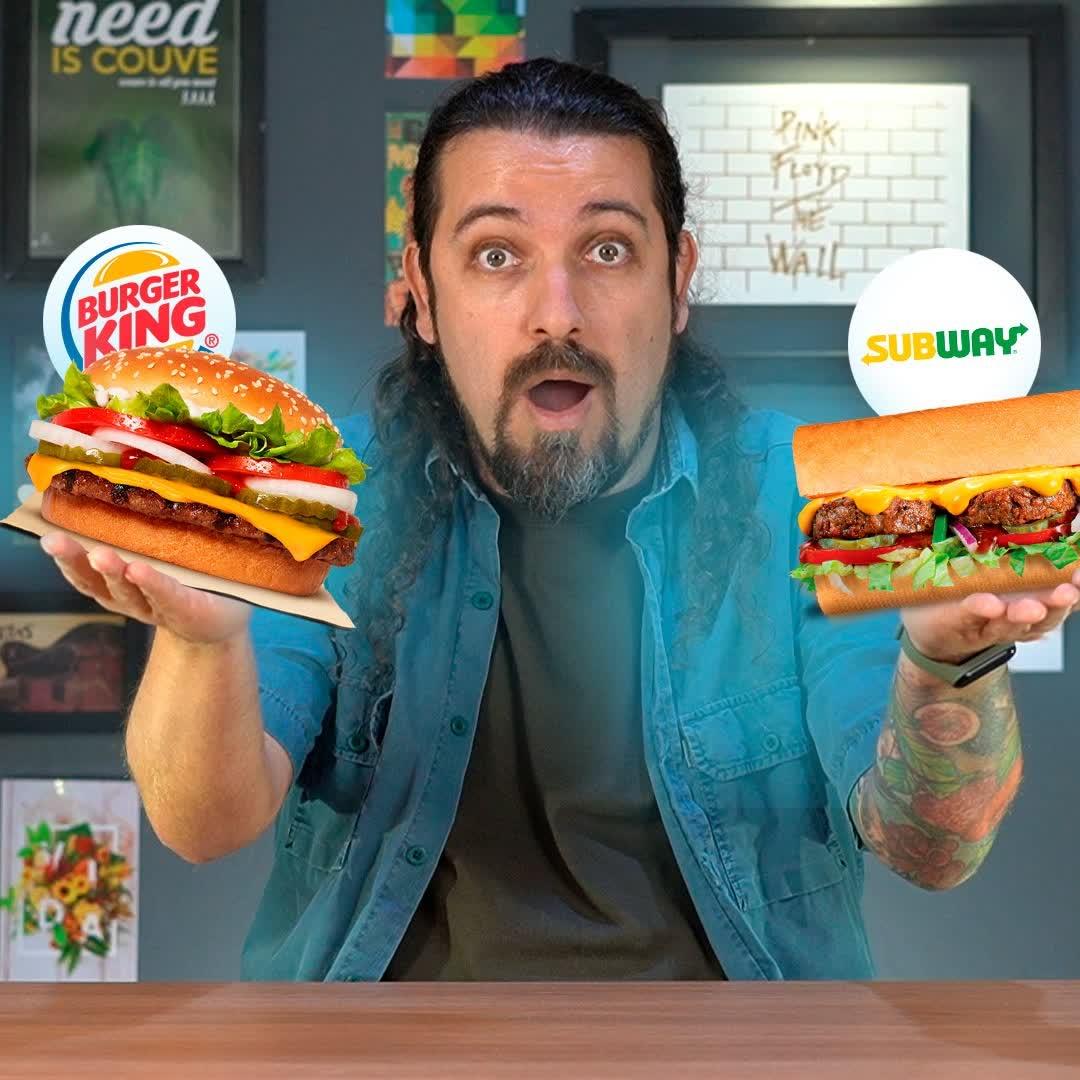 Rebel Whopper X SUB VEG: batalha de sanduíches