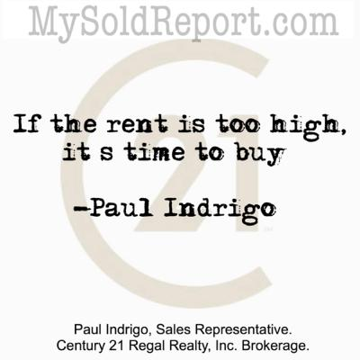 Episode 139: If the rent is too high, it's time to buy