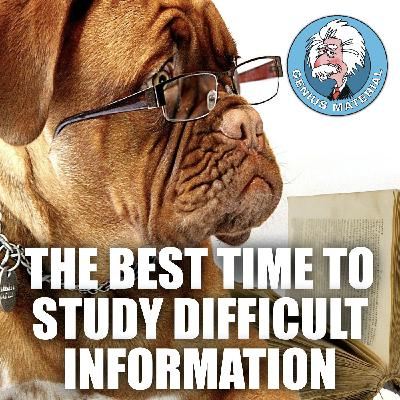 The best time to study difficult information