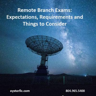 Remote Branch Exams: Expectations, Requirements and Things to Consider