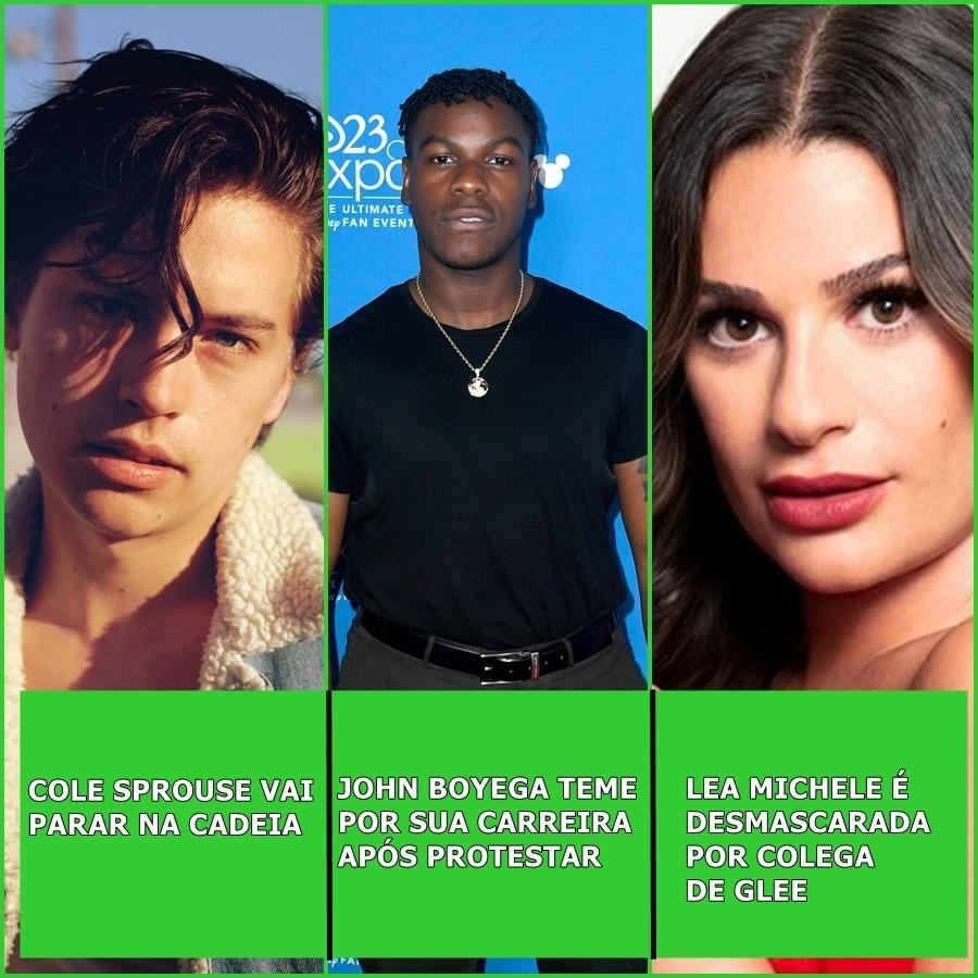 Cole Sprouse é preso, Jonh Boyega teme por sua carreira , Lea Michele é desmacarada e mais. | Uai Cast #41