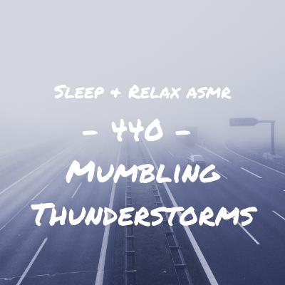 Thunderstorm Mumbling (Female Unintelligible ASMR)