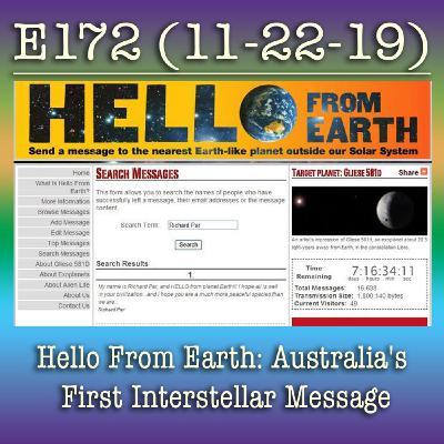 e172 Hello From Earth: Australia's First Interstellar Message
