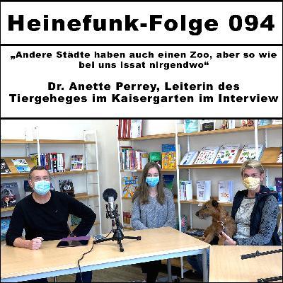 Heinefunk-Folge 094: Dr. Anette Perrey, Leiterin des Tiergeheges im Kaisergarten