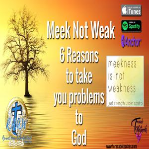 Meek Not Weak! The Importance of Taking Your Problems To God