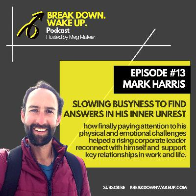 013 - Slowing busyness to find answers in his inner unrest with Mark Harris