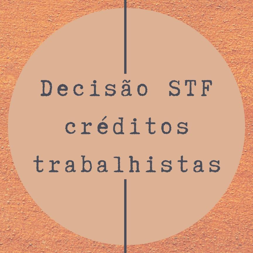 STF e correção trabalhista