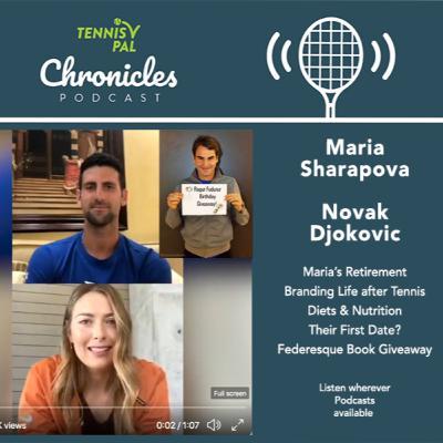 Novak Djokovic & Maria Sharapova IG Interview + Roger Federer Birthday Giveaway Federesque Coffee Book