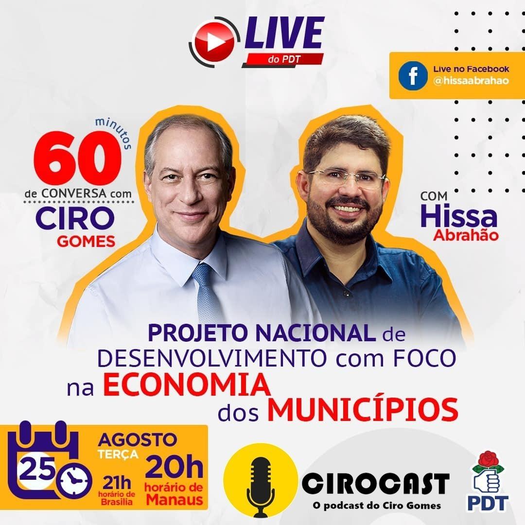25/08/2020 | Ciro Gomes em Live com Hissa Abrahão