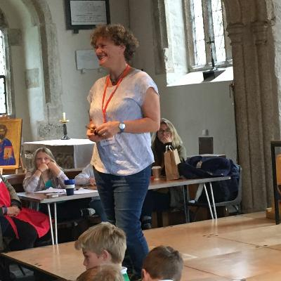 Liz Kessler's workshop for teens at North Cornwall Book Festival