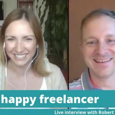 Live interview with Robert Vlach for freelance English teachers, hosted by Nina English