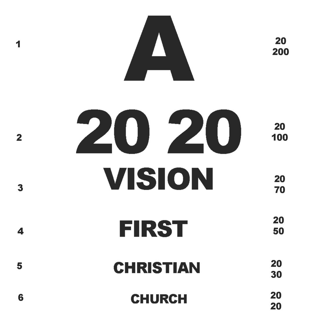 2020 VISION (Part 1 - God is Good)