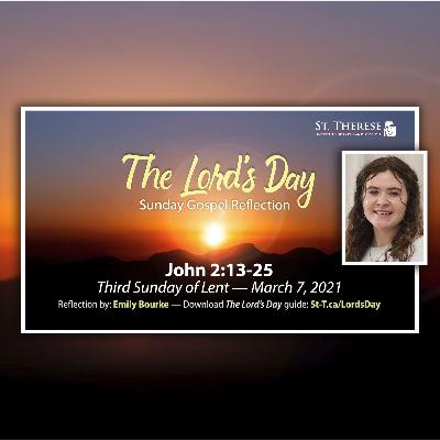 """""""The Lord's Day"""" Gospel Reflection by Emily Bourke (John 2:13-25, for March 7, 2021)"""