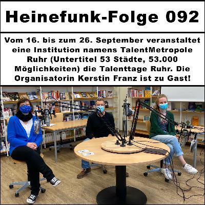 Heinefunk-Folge 092: Kerstin Franz von den Talenttagen Ruhr ist zu Gast