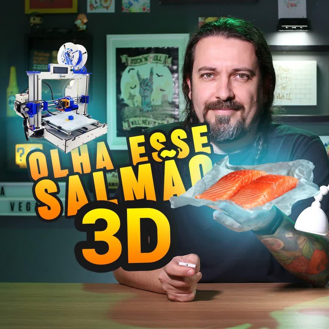 Salmão feito em impressora 3D já existe