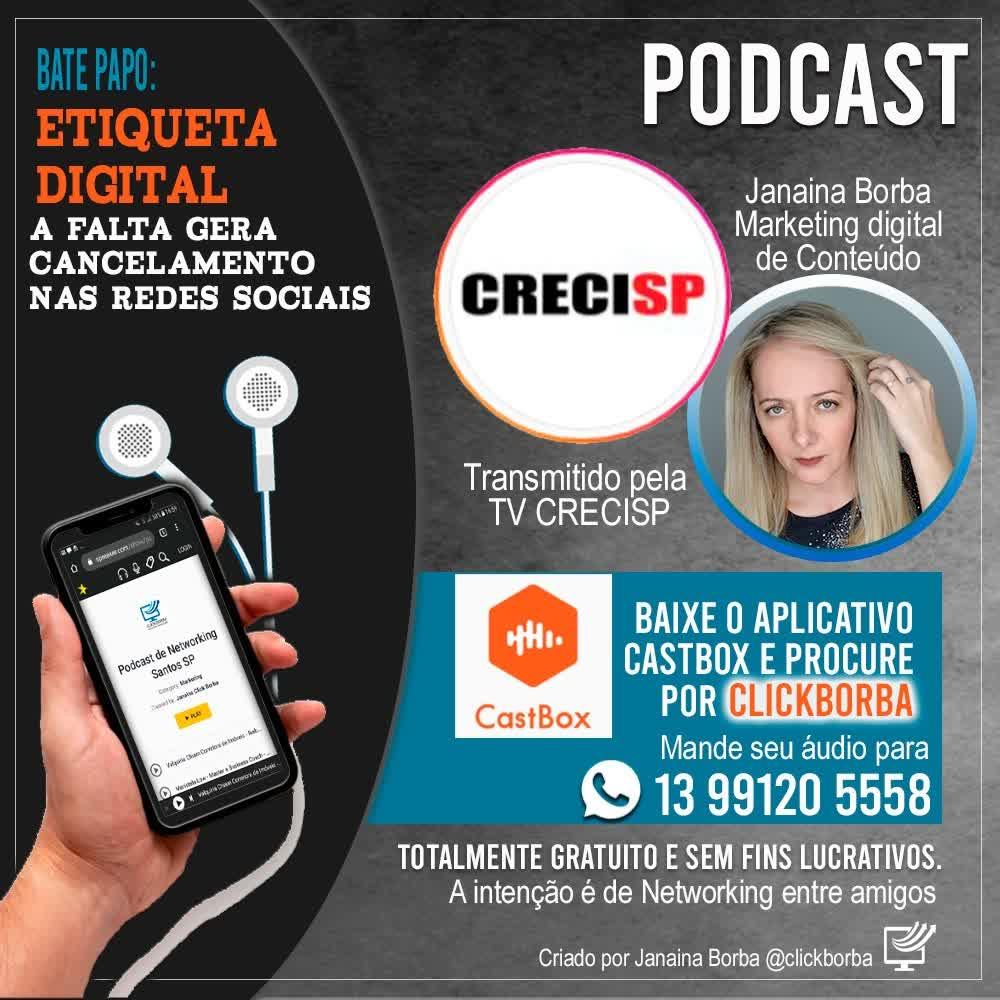 Etiqueta Digital a falta gera Cancelamento - Janaina Borba