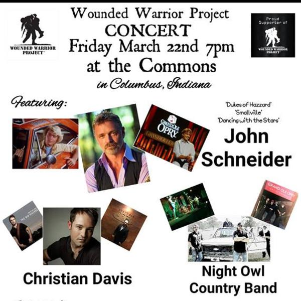 John Schneider and the Night Owl Country Band to Play the Wounded Warrior Concert
