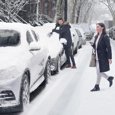 Der erste Glücksmoment am Morgen: Eisfreie Scheiben und aufgewärmtes Auto
