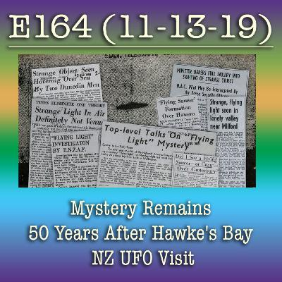 e164 Mystery Remains 50 Years After Hawke's Bay NZ UFO Visit