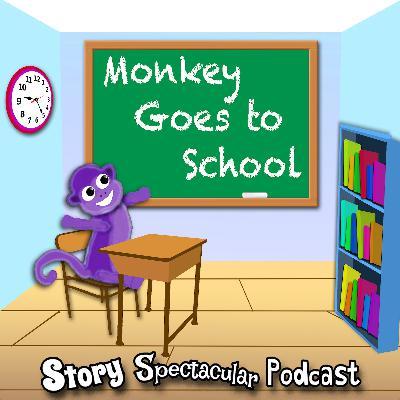 Little Monkey Goes to School