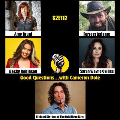 S2E112 - Amy Bruni, Becky Robinson, Forrest Galante, Sarah Wayne Callies, and Richard Sterban