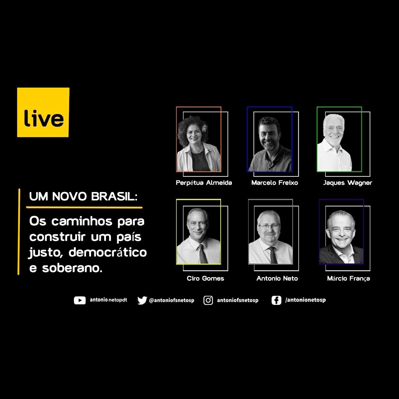 20/06/2020   Ciro Gomes, Jacques Wagner, Marcelo Freixo, Márcio França e Perpétua Almeida debatem os caminhos para a construção de um novo Brasil. #FrenteAmpla
