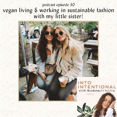 vegan travel & working in sustainable fashion with MY LITTLE SISTER, Leah!