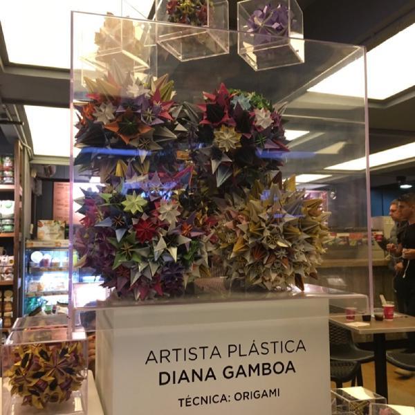 Origami como arte en #CircuitoArteModa