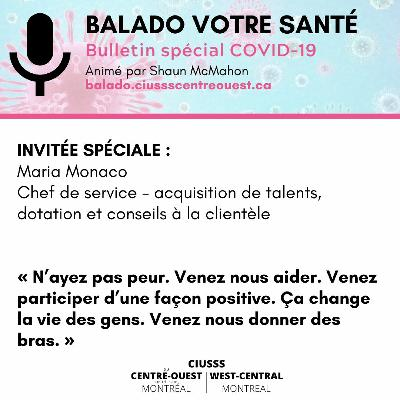 COVID-19 - Maria Monaco - E047 - Balado Votre Santé