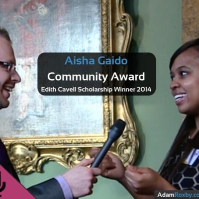 Aisha Gaido - Community Award Winner Edith Cavell Award 2014