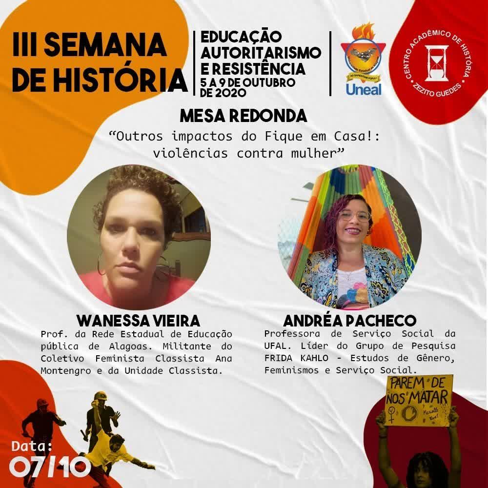 III SEMANA DE  HISTÓRIA - 07_10_2020 - Campus I - UNEAL