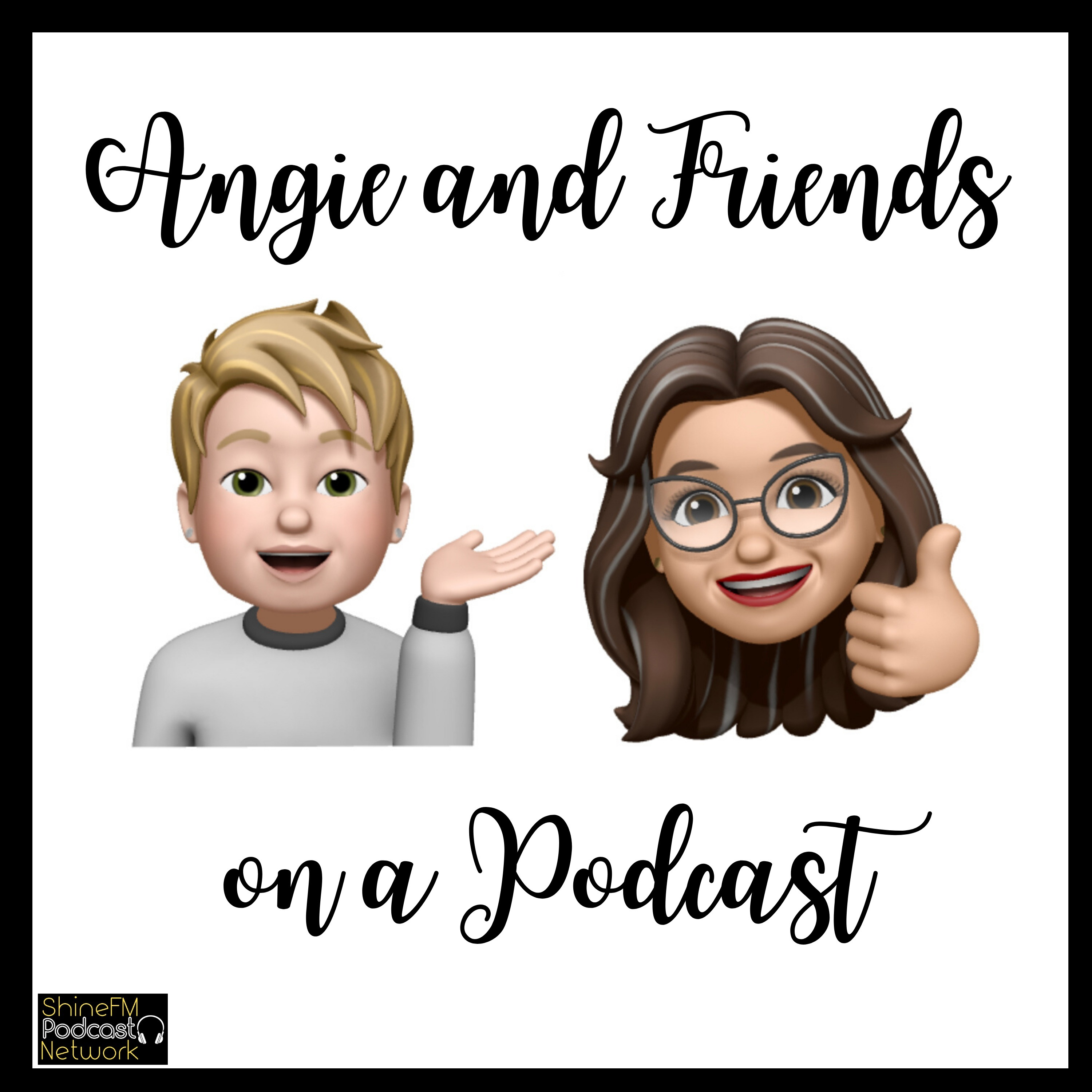 Angie and Friends on a Podcast