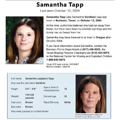 Missing Samantha Tapp - 1 - Clean Slate