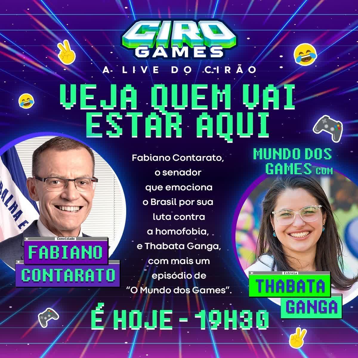 CIRO GAMES #5 | 05/10/2021 com Fabiano Contarato e Thabata Ganga
