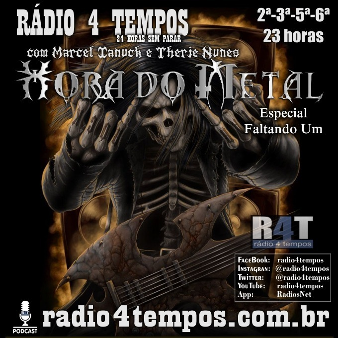 Rádio 4 Tempos - Hora do Metal 170:Marcel Ianuck e Therje Nunes