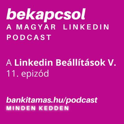 11. epizód — Linkedin Beállítások V. — Linkedin Kommunikáció