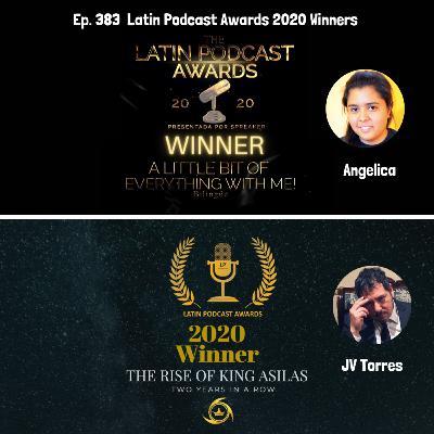 Latin Podcast Awards Winnerswith JV Torres