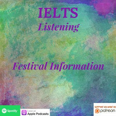 IELTS | Listening | Cambridge 15 | T2 - P1 | Festival Information