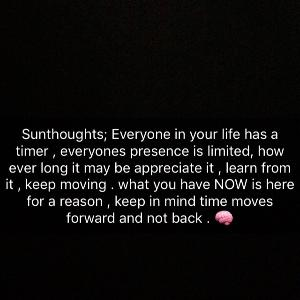 SUNThoughts on Time