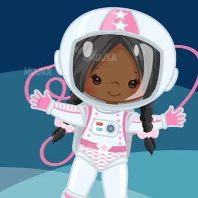 Nina goes on a princess escalator to Outer Space