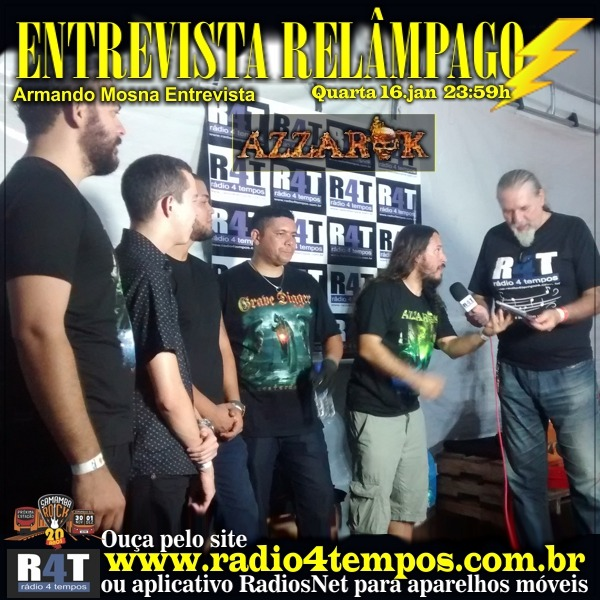 Rádio 4 Tempos - Entrevista Relâmpago 40