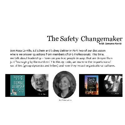 Safety Changemaker: Leadership ~ Rosa Carrillo, Edgar Schein and Sidney Dekker (Part Two)