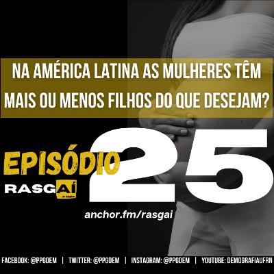#25 | Na América Latina as mulheres têm mais ou menos filhos do que desejam? | Angelita Alves de Carvalho